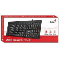 TECLADO GENIUS USB KB-116 NEGRO P/N 31300008401