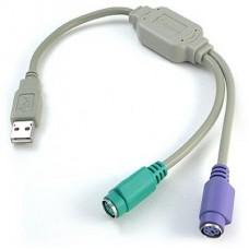 ADAPTADOR USB PS2 MOUSE Y TECLADO
