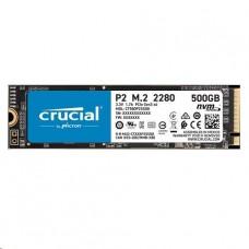DISCO CRUCIAL DE ESTADO SOLIDO P2 500GB 3D NAND NVMe PCIex M.2 SSD P/N CT500P2SSD8