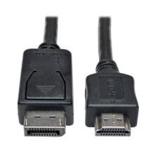 ADAPTADOR  DE CABLE TRIPPLITE  DisplayPort A HDMI (M/M), 1.8 MTS P/N P582-006