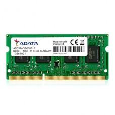 MEMORIA SODIMM ADATA DDR3L 4GB 1600 DDR3 1.35V P/N ADDS1600W4G11-S