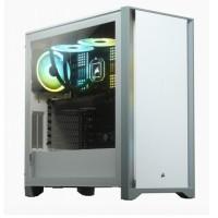 GABINETE GAMER CORSAIR 4000D VIDRIO TEMPLADO ATX WHITE P/N CC-9011199-WW