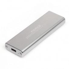 COFRE PARA DISCO M2 USB 3.0 FIDECO SILVER USB 3.1