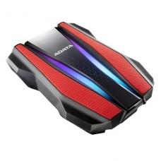 DISCO DURO EXTERNO 1TB ADATA GAMING RED RGB USB 3.2 P/N AHD770G-1TU32G1-CRD