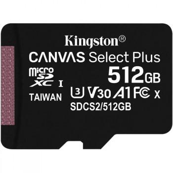 MEMORIA MICROSD 512GB KINGSTON CANVAS SELECT PLUS P/N SDCS2512GB