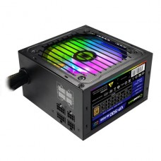 FUENTE DE PODER GAMEMAX 500W RGB SEMIMODULAR 80 PLUS BRONCE P/N VP-500-RGB-M