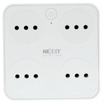 ENCHUFE NEXXT DOMOTICA 4 ENCHUFE INTELIGENTE + 2 USB P/N NHP-T720