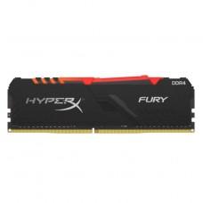 MEMORIA DDR4 KINGSTON HYPERX FURY BLACK 16GB 3200 MHZ RGB CL16 P/N HX432C16FB4A/16