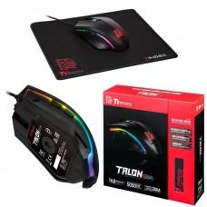 KIT MOUSE Y MOUSE PAD GAMER THERMALTAKE TALON ELITE (Sensor PIXART, 400/5000dpi, RGB, Negro) P/N MO-TER-WDOTBK-01