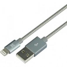 CABLE KLIP XTREME APPLE LIGHTNING 4PIN USB TYPE A 1M - GRIS P/N KAC-010GR
