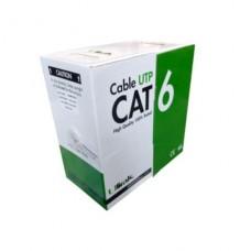 CABLE DE RED CAT6, 100% COBRE, 24 AWG, CCA, 4x2x0,52MM, CAJA 305 MTS P/N 0210091