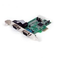 TARJETA PCIeX  2 SERIALES DB9 CON BRAQUET LOW PERFIL STARTECH P/N PEX2S553