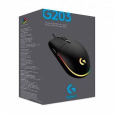 MOUSE GAMER LOGITECH  G203 LIGHTSYNC BLACK USB P/N 910-005793