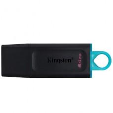 PENDRIVE KINGSTON 64GB EXODIA BLACK TEAL  UCB-C 3.2GEN  P/N DTX64GB