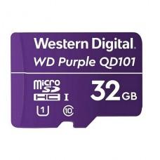 MICROSD WESTERN DIGITAL PURPLE 32GB SURVEILLANCE VIDEOVIGILANCIA  CLASS 10 P/N WDD032G1P0C