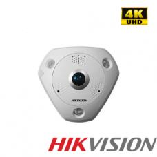 CAMARA DE SEGURIDAD HIKVISION HIK FISHEYE IP 6MP 360° IP66 IK10 WDR POE IR 15mt - EXTERIOR P/N DS-2CD6365G0E-IVS1.27MM