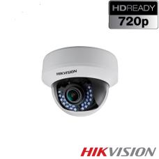 CAMARA DE SEGURIDAD HIKVISION DOMO 720p Lente Fijo 2.8mm IP66 IR 20m IK10 - 1MP - Exterior IR P/N DS-2CE56C0T-VPIR