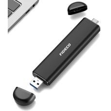 COFRE PARA DISCO M.2 NVME PCIE USB 3.2 TIPO PENDRIVE DUAL ( USB-C Y USB-A ) FIDECO 207CPS