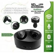 Audífonos microfono estereo Bluetooth twinbuds negros P/N KHS-700