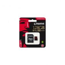 MEMORIA Kingston Canvas React microSDXC 128 GB  A1 VIDEO CLASS V30 UHS-1P/N SDCR128GB