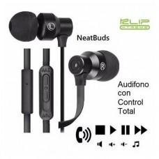 Audífonos NeatBuds con control y micrófono en línea P/N KHS-215BK