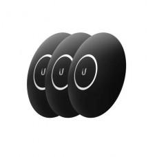 cubierta Ubiquiti MatteBlack de dispositivo de red parte delantera negro mate (paquete de 3) para Unifi nanoHD P/N NHD-COVER-BLACK-3