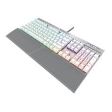 TECLADO GAMER MECANICO Corsair  K70 RGB USB INLES - Ergonomic Design Black / White and silver