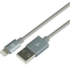 Klip Xtreme - USB cable - Apple Lightning - 4 pin USB Type A - 0.5 m - Gray - Braided