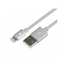 Klip Xtreme - USB cable - Apple Lightning - 4 pin USB Type A - 0.5 m - Pure silver - Braided
