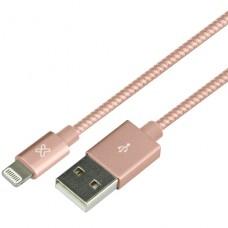 CABLE Klip Xtreme Apple Lightning 4pin USB Type A 1m - ROSE GOLD P/N KAC-010GR