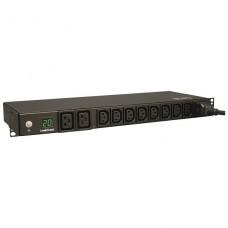 PDU Tripplite 1U 8(C13) 2(C19) 3.8kW 3,6M Medidor Digital p/n PDUMH20HV