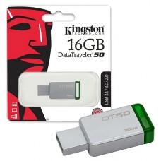 PENDRIVE Kingston 16GB  DataTraveler 50 USB 3.1 verde P/N DT5016GB