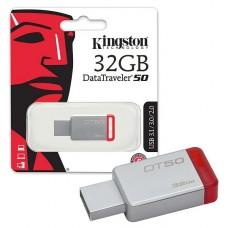 PENDRIVE Kingston 32GB  DataTraveler 50 USB 3.1 - rojo P/N DT5032GB