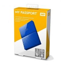 Disco duro externo  Western Digital My Passport de 1TB USB 3.0, Azul P/N WDBYNN0010BBL-WESN