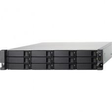 QNAP  Servidor NAS 12 compartimentos montaje en bastidor SATA 6Gb/s  RAID 0, 1, 5, 6, 10, JBOD, 5 Hot Spare, intercambio en caliente 6, 10 repuesto rápido  RAM 4 GB  Gigabit Ethernet  iSCSI  2U P/N TS-1253BU-RP-4G-US