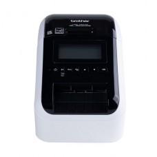 IMPRESORA TERMICA Brother bicolor (monocromático) papel térmico Rollo (6,2 cm) 300 x 600 ppp hasta 176 mm/segundo USB 2.0, LAN, Wi-Fi(n), host USB, Bluetooth 2.1 EDR negro, blanco P/N QL-820NWB