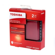 DISCO DURO EXTERNO Toshiba Canvio Advance 2TB USB 3.0 rojo P/N HDTC920XR3AA