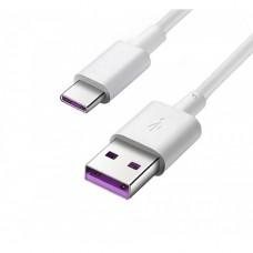 CABLE USB Huawei  AP71 Charge/Sync USB (M) a USB-C (M) USB 2.0 - 5 A 1 m -sin halógenos blanco P/N 4071497