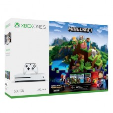 Consola Microsoft® Xbox One S 500GB Pack Minecraft Complete Adventure Blanca p/n ZQ9-00290B