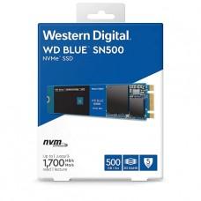 DISCO DE ESTADO SOLIDO SSD WD BLUE 500GB SN500 NVMe M.2 2280 P/N WDS500G1B0C