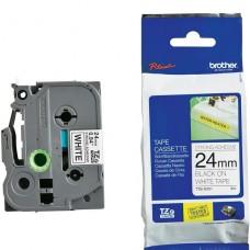 cinta Brother Adhesivo extrarresistente negro sobre blanco  rollo (2,4 cm x 8 m) 1 bobina(s) tipo laminado  para P-Touch PT-3600, D600, D800, E500, E550, E800, P750, P900, P950; P-Touch EDGE PT-P750 p/n tze-s251
