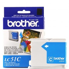 CARTRIDGE Brother Cián original cartucho de tinta para Brother DCP-130, 330, 350, MFC-230, 240, 3360, 440, 465, 5460, 5860, 665, 685, 845, 885 P/N LC51C