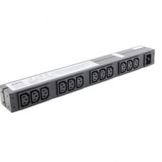 PROTECCION APC Basic Rack-Mount PDU Unidad de distribución de alimentación (montaje en bastidor)  CA 208/230 V  input: IEC 60320 C20 conectores de salida: 12 (IEC 60320 C13)  1U - 19