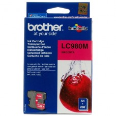 Cartridge Brother Magenta original cartucho de tinta para Brother DCP-145, 163, 167, 193, 195, 197, 365, 373, 375, 377, MFC-250, 255, 290, 295, 297 P/N LC-980M