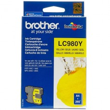 CARTRIDGE Brother Amarillo original cartucho de tinta  para Brother DCP-145, 163, 167, 193, 195, 197, 365, 373, 375, 377, MFC-250, 255, 290, 295, 297 P/N LC-980Y