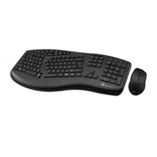 KIT TECLADO Y MOUSE INALAMBRICO Klip Xtreme ESPAÑOL  2.4 GHz / USB - Black - Ergonomic - Scroll P/N KBK-500