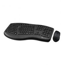 kit teclado y mouse Klip Xtreme inalambrico 2.4 GHz / USB negro Ergonomic Compact p/n KBK-510