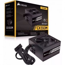 CORSAIR CX-M Series CX550M - 2015 Edition - power supply (internal) - ATX12V 2.4/ EPS12V 2.92 - 80 PLUS Bronze - AC 100-240 V - 550 Watt - active PFC - North America - matte black