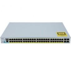 SWITCH Cisco Catalyst 2960L Conmutador Gestionado  48 x 10/100/1000 (PoE+) + 4 x Gigabit SFP (enlace ascendente) sobremesa, montaje en rack  PoE+ (370 W) P/N WS-C2960L-48PS-LL