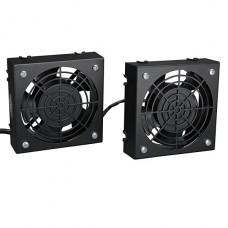 JUEGO DE VENTILADOR Tripp Lite DE TECHO SmartRack para instalacion en pared, 2 ventiladores de alto rendimiento 120V 5-15P  P/N SRFANWM